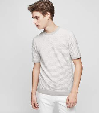 Reiss Sherringham Textured-Knit Short Sleeve Jumper