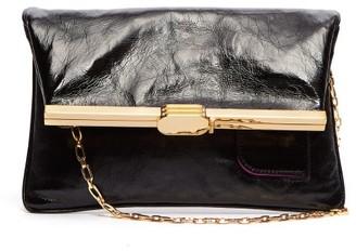 Bienen Davis Bienen-davis - Pm Fold Over Leather Clutch Bag - Womens - Black
