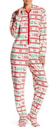 Hello Kitty Printed Fleece Jumpsuit $45 thestylecure.com