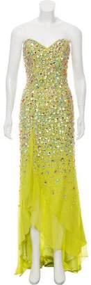 Terani Couture Embellished Strapless Dress w/ Tags