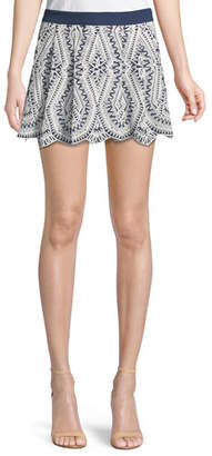 Ramy Brook Larissa Embroidered Mini Skirt