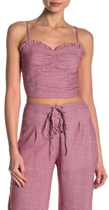 Honey Punch Checkered Crop Top
