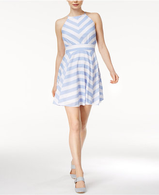 Maison Jules Kimberly Striped Fit & Flare Dress, Only at Macy's $69.50 thestylecure.com
