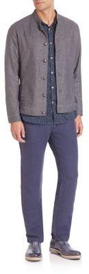 Denim Offier Jacket $398 thestylecure.com