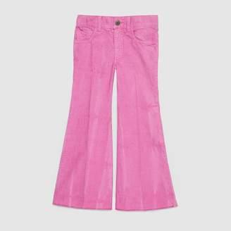 Gucci Children's flare corduroy pant