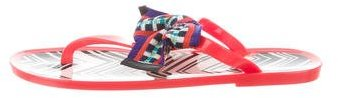 Missoni Bow-Accented Thong Sandals