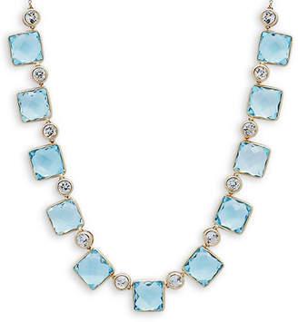 Saks Fifth Avenue Topaz & 14K Charm Necklace