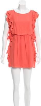 Tibi Silk Ruffle-Accented Dress