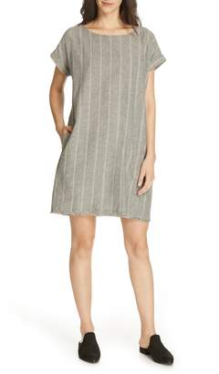 Eileen Fisher Stripe Hemp & Organic Cotton Shift Dress