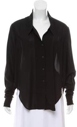 Theyskens' Theory Chiffon Oversize Top