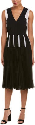 BCBGMAXAZRIA Pleated Midi Dress