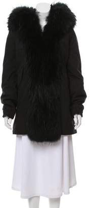 Mr & Mrs Italy Hooded Fox Fur-Lined Parka