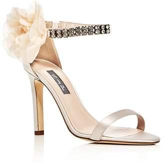 Sarah Jessica Parker Leila Embellished Satin High-Heel Sandals - 100% Exclusive