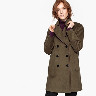 9f7acddabc4 La Redoute COLLECTIONS Military Wool Mix Pea Coat