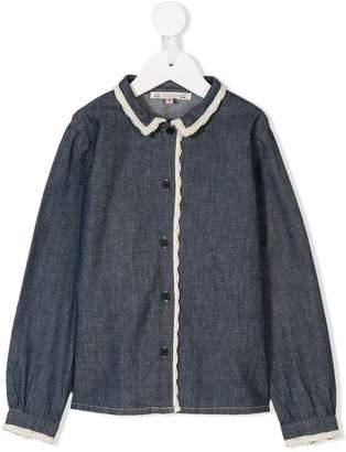 Bonpoint crochet trim shirt