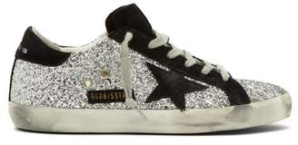 Golden Goose Superstar Glitter Low Top Trainers - Womens - Black Silver