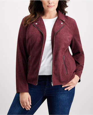 Style&Co. Style & Co Plus Size Faux-Suede Jacket