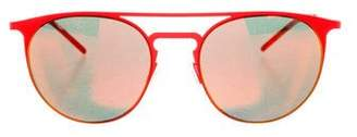 Italia Independent Reflective Aviator Sunglasses