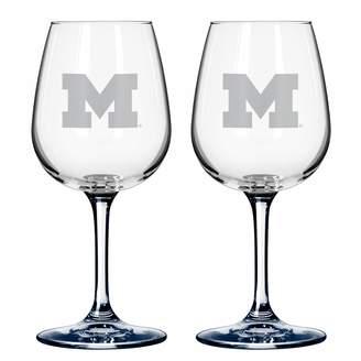 NCAA Kohl's Michigan Wolverines 2-pc. Wine Glass Set