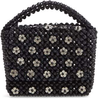 Skinnydip Gia Daisy Beaded Top Handle Bag