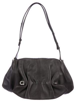 Salvatore Ferragamo Gathered Leather Shoulder Bag