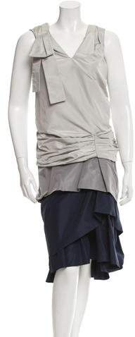 Marc JacobsMarc Jacobs Ruched Colorblock Dress w/ Tags