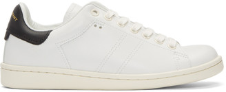 Isabel Marant White Bart Sneakers $385 thestylecure.com