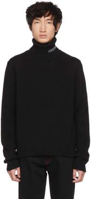 Calvin Klein Black Logo Turtleneck