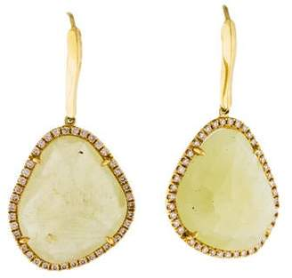 Rina Limor Fine Jewelry 18K Yellow Sapphire & Diamond Drop Earrings