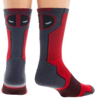 Bioworld Marvel Deadpool Mens' Active Crew Socks (Sock Size: 10-13 - Shoe Size: 8-12)