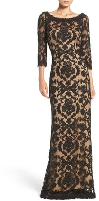 Women's Tadashi Shoji Embroidered Tulle Gown $508 thestylecure.com