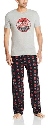 Lucky Brand Men's Giftset: Short Sleeve Crew and Woven Pant