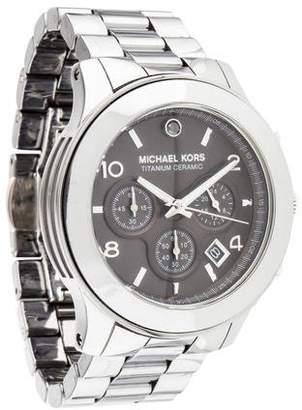 Michael Kors Titanium Ceramic Runway Watch
