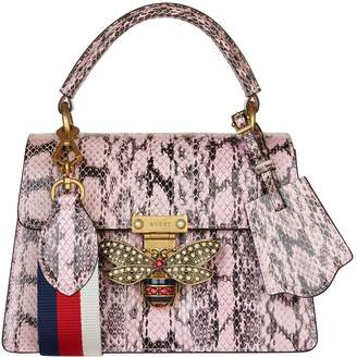 Gucci Snakeskin Queen Margaret Top Handle Bag