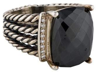 David Yurman Hematine & Diamond Wheaton Ring