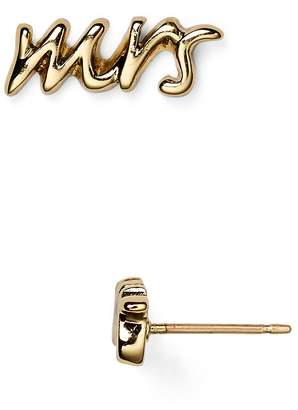 Kate Spade Say Yes Mrs. Stud Earrings