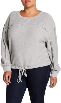 Melrose and Market Cropped Drawstring Hem Sweatshirt (Plus Size)