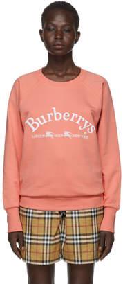 Burberry Pink Oversized Logo Sweatshirt