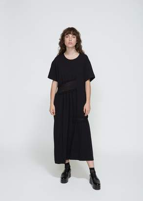 Yohji Yamamoto Y's by Short Sleeve Partial Gather Dress