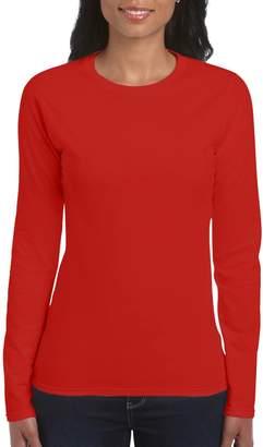 Gildan Ladies Soft Style Long Sleeve T-Shirt (XL)