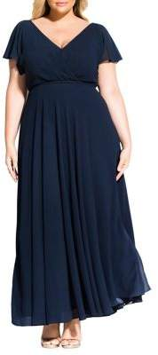 City Chic Plus Sweet Wishes Maxi Dress