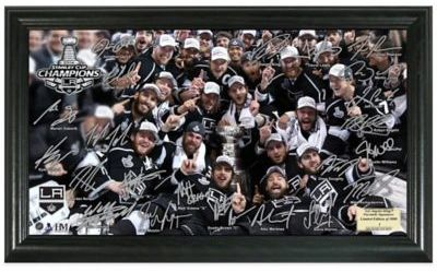 NHL Los Angeles Kings 2014 Stanley Cup Champions Signature Rink Photo Frame