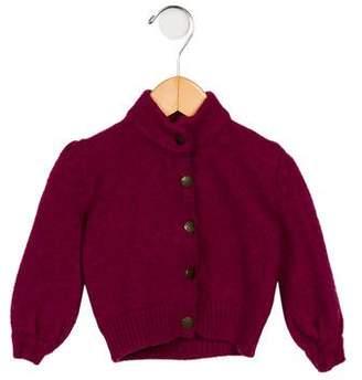 Burberry Girls' Wool Button-Up Cardigan