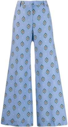 Alberto Biani geometric print trousers