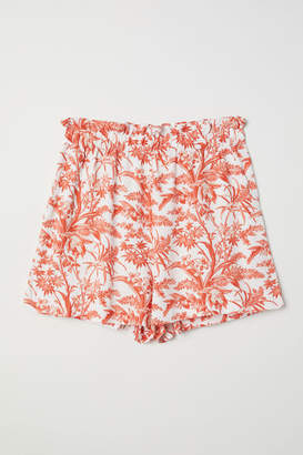 H&M Wide-cut Shorts - Beige