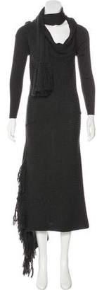 Jean Paul Gaultier Virgin Wool Maxi Dress