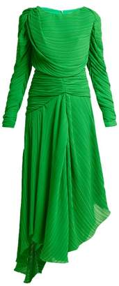 Preen by Thornton Bregazzi Kitty Draped Pleated Georgette Dress - Womens - Green