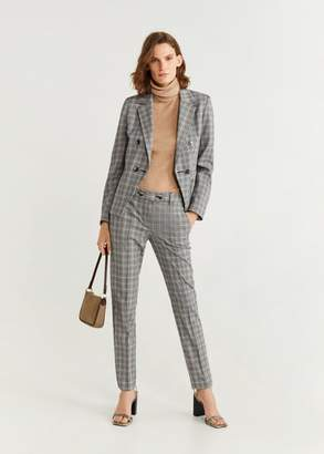 MANGO Check suit blazer grey - 2 - Women