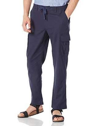 Isle Bay Linens Men's Linen Cotton Blend Cargo Pants