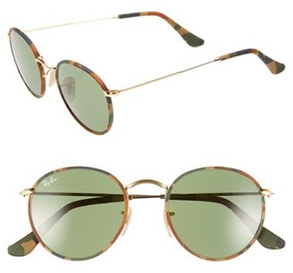 Women's Ray-Ban Camo Print Round 50Mm Sunglasses - Brown/ Green $175 thestylecure.com
